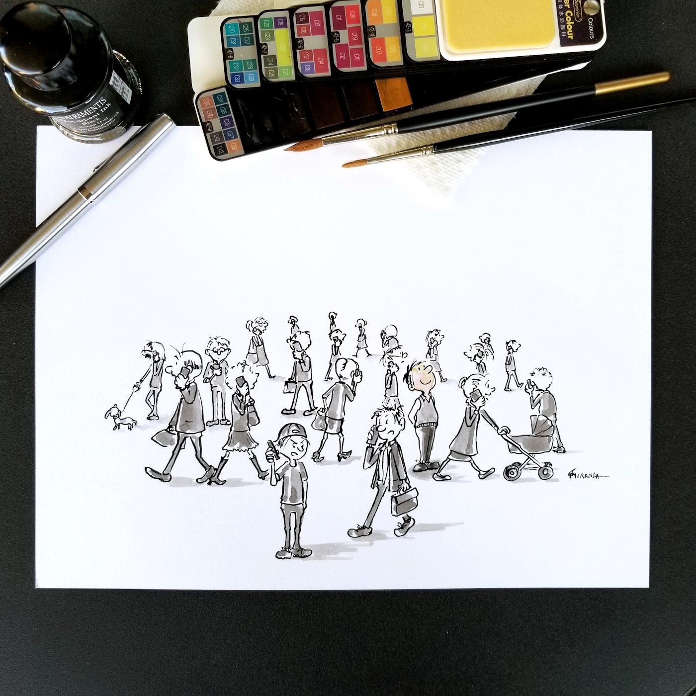 JMSC-170 Unplugged photo of original illustration by Joana Miranda