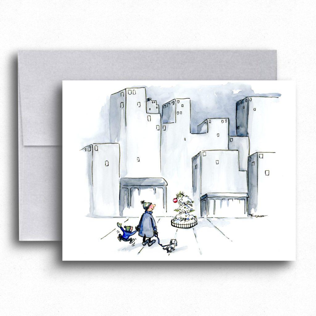 Merry and bright holiday card by Joana Miranda Studio - now available at Joana Miranda Studio at Etsy.