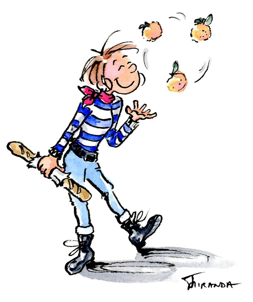 French girl cartoon by Joana Miranda