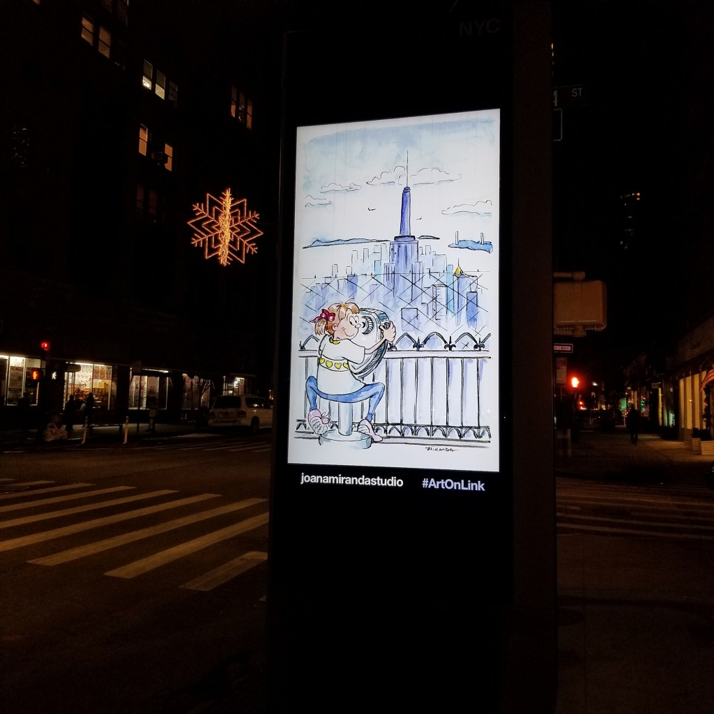 NYC illustration by Joana Miranda - The Observation Deck illustration on LinkNYC