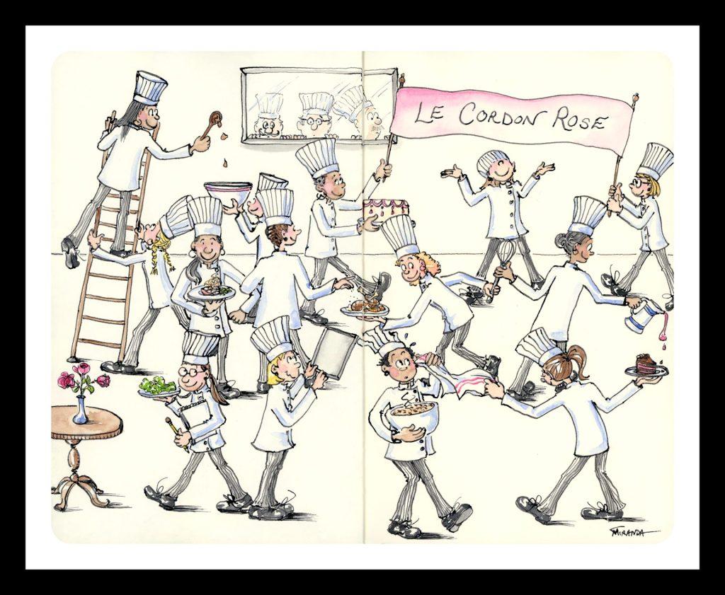 Whimsical chef art by Joana Miranda.  Now available as a print at Joana Miranda Studio at Etsy