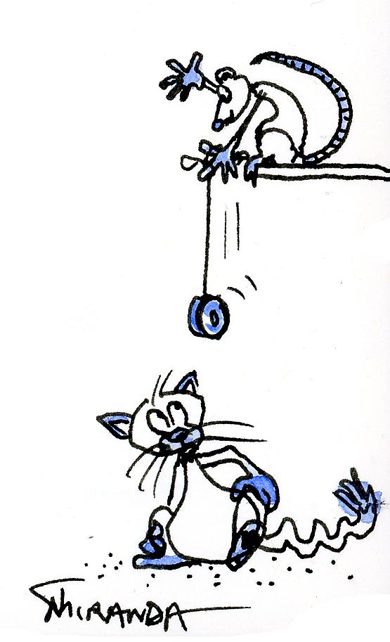 Yo Yo Mouse illustration by Joana Miranda