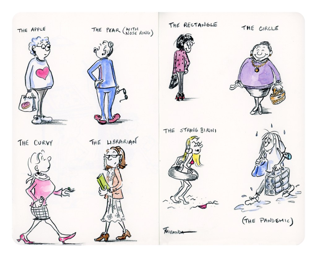 Body Types - An Illustrated Guide to the Female Form by Joana Miranda