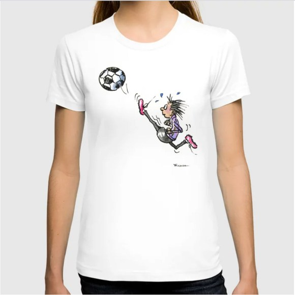 New Products in my shop at Society6: Little Soccer Girl Tee by Joana Miranda Studio