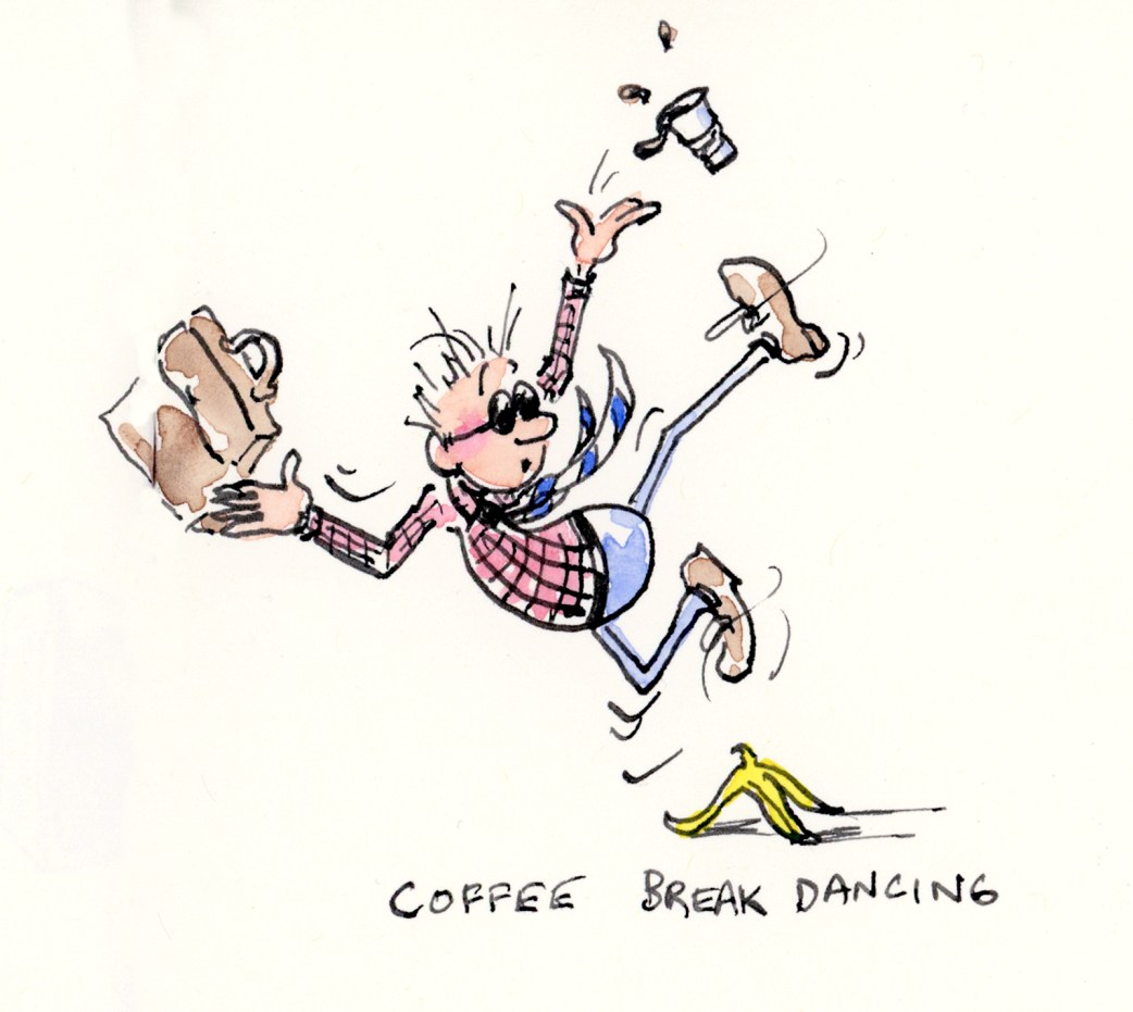 Coffee Break Dancing character illustration by Joana Miranda