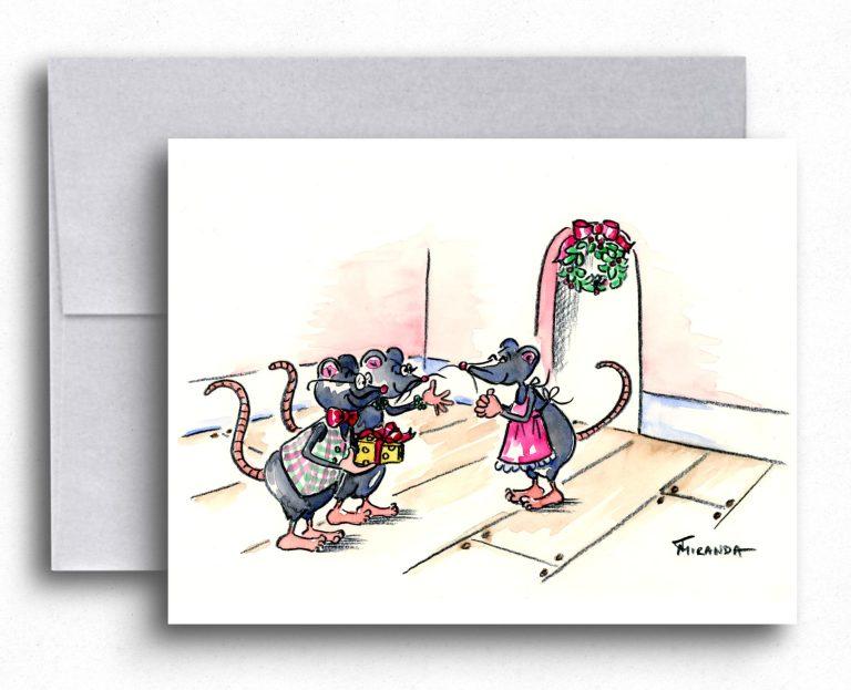 New Holiday Cards Available from Joana Miranda Studio at Etsy - Christmas Mice