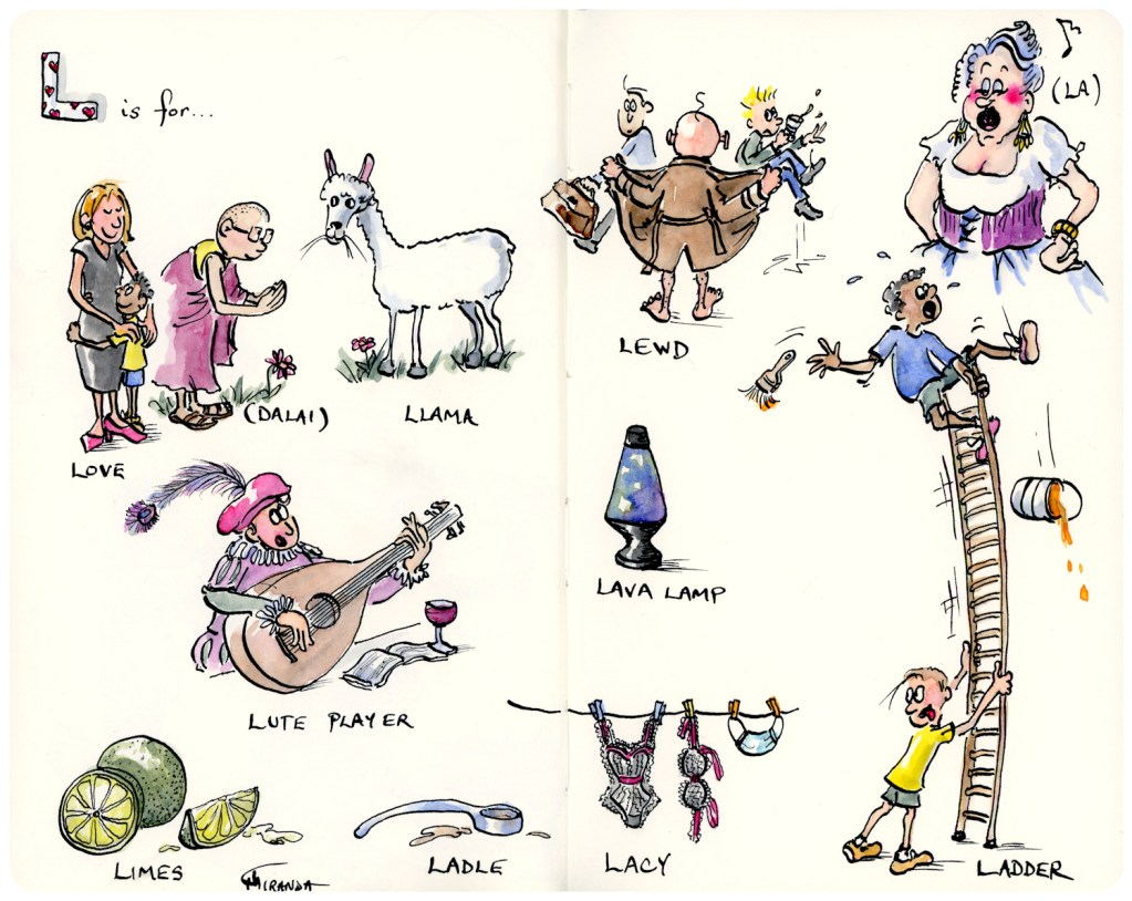 L is for Love and Other Illustrations - Moleskine Alphabet Series by Joana Miranda