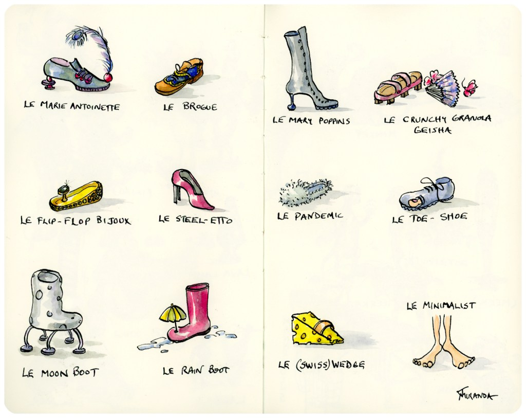 My Designer Shoes - An Illustrated Guide puts a humorous spin on real (and imagined) shoes.
