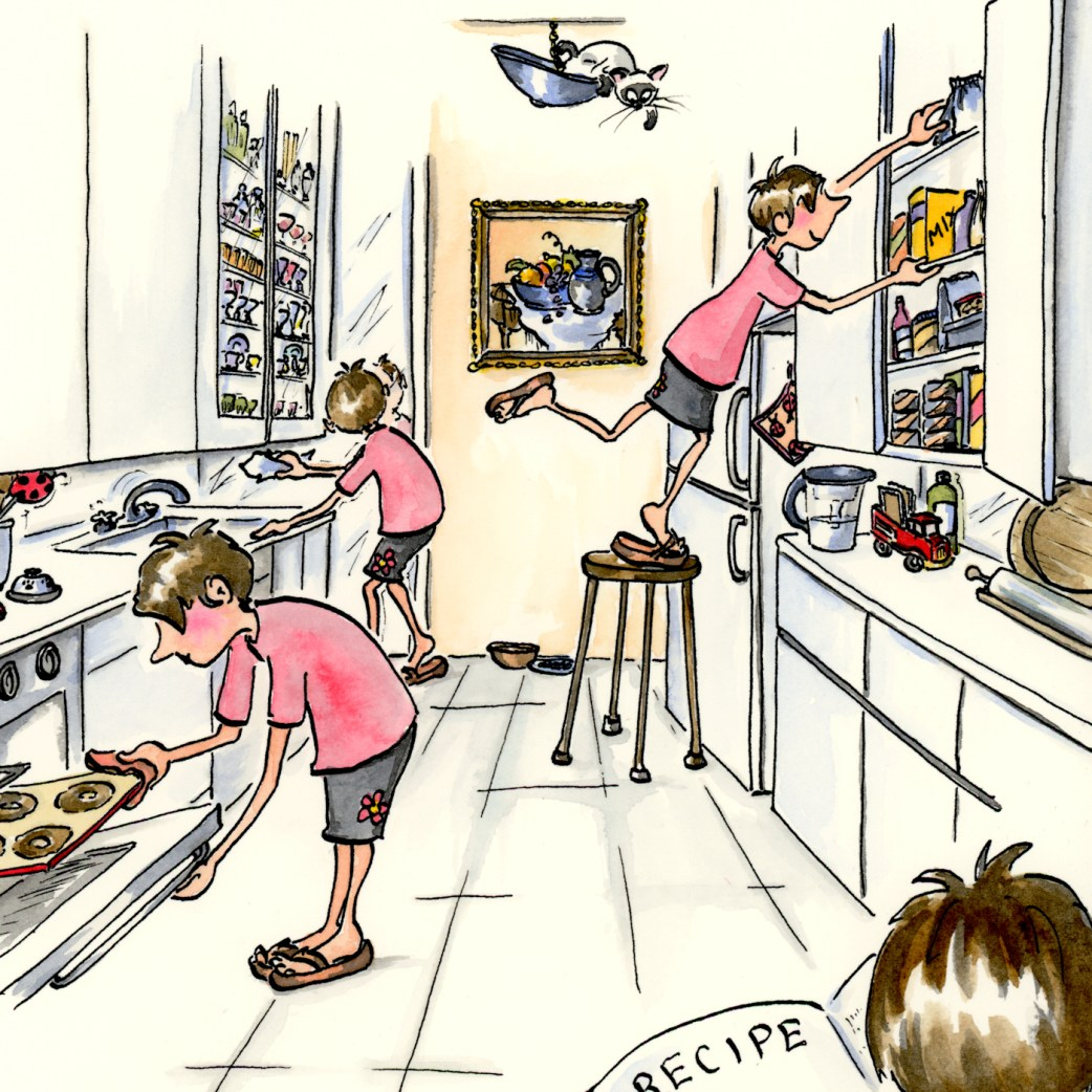 Sneak peek into my In the Kitchen detailed drawing
