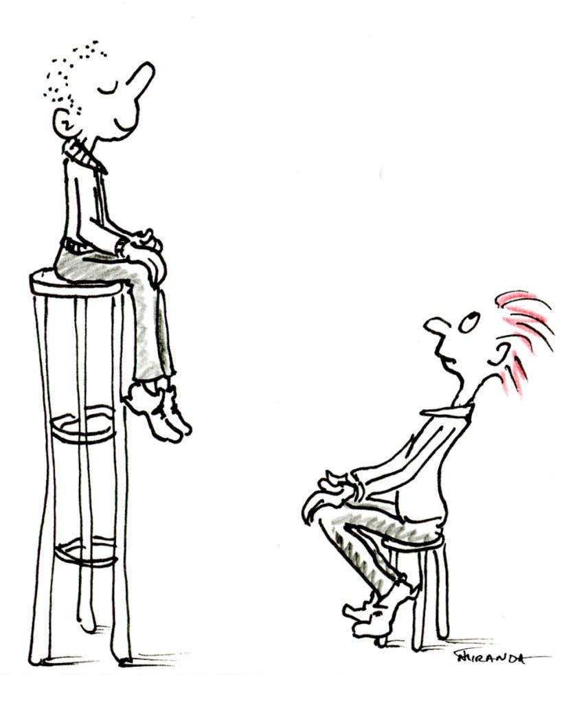 You Inspire Me - Comical illustration by Joana Miranda
