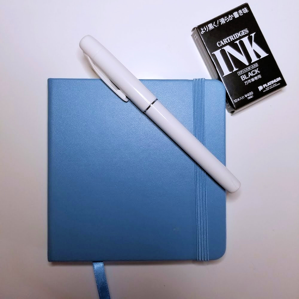 Photo of Talens Creation Travel Sketchbook and Platinum Preppy Pen