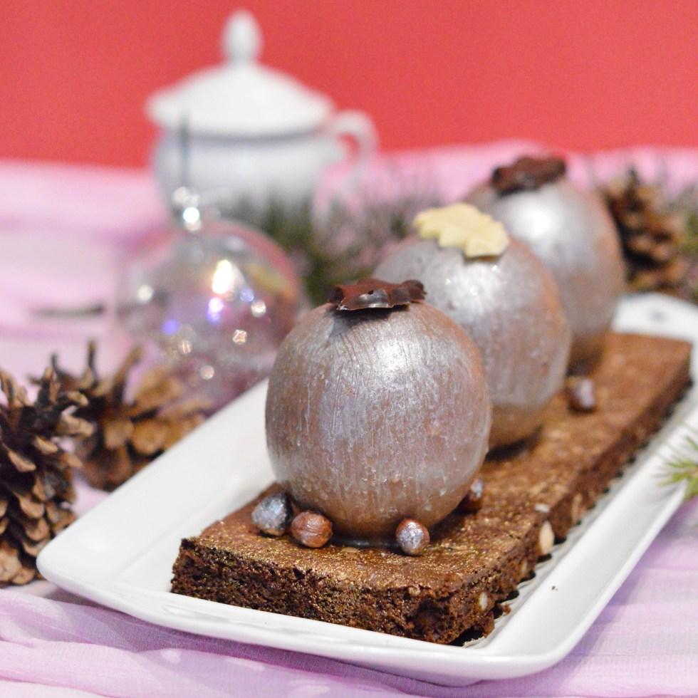 Boule Brownie Chocolat Noisette Vegan et Sans Gluten