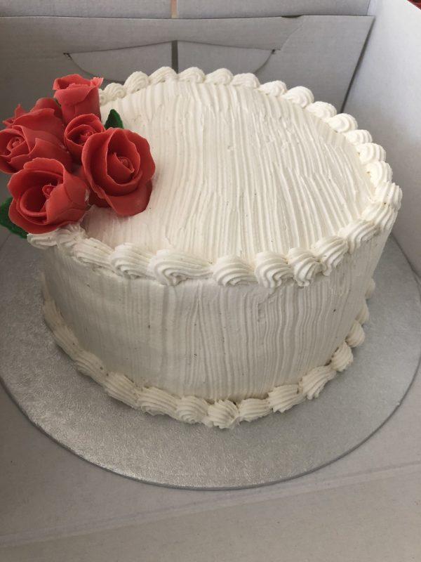 Layer cake vegan vanille cerise