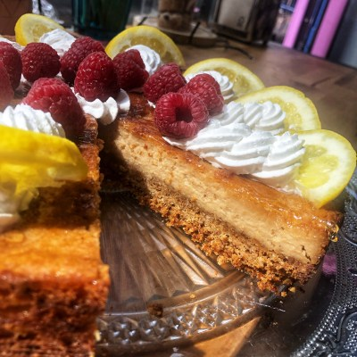 Cheesecake citron framboise