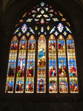 Early 14th century window showing old and new testament