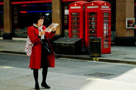 Turista asiàtica (Londres - primavera 2012)