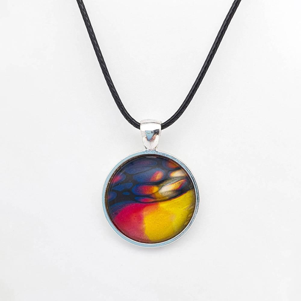 Collier à pendentif rond Clarity