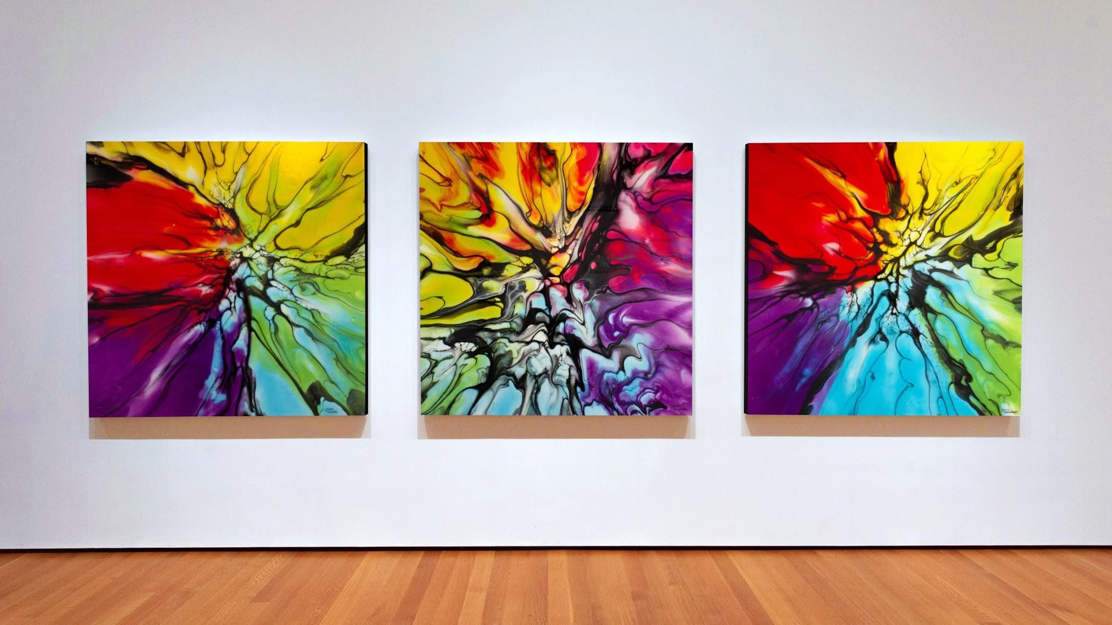 Triptyque Fluid Art