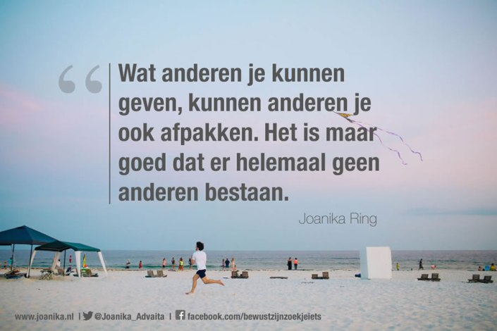 Quote van Joanika over anderen