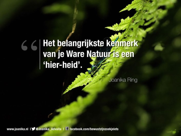 Quote van Joanika over je ware natuur