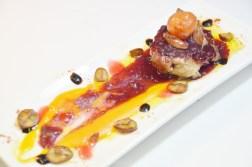 Filet d'ibèric amb foie i oporto.