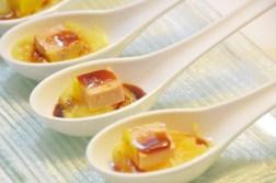 Compota de poma amb foie i reducció de Pedro Ximéneç
