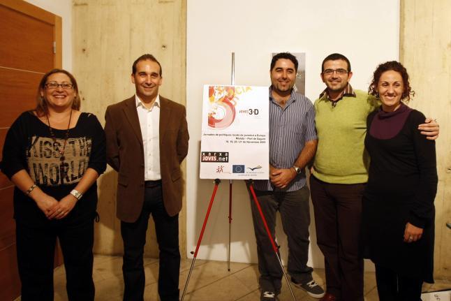 Amparo Adalid, Juan Medina, Antonio Benaches, Jaume López y M.ª José Cortés, en el Club