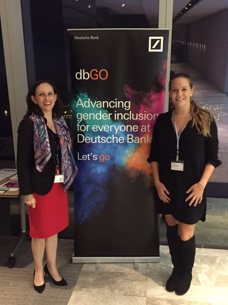 Joanna Bowers with Harriet Unger from Deutsche Bank at The Helper private screening