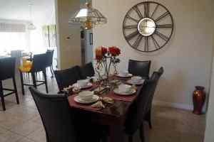 Villa Rental Dining Area
