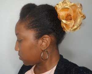 faux bun flower