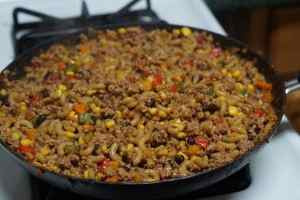 One Pan Taco Macaroni and Cheese