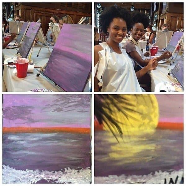 Enjoying Paint Nite with Yummi Studios