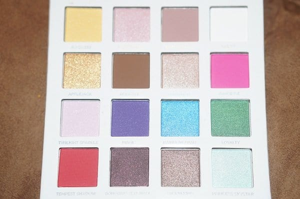 My Little Pony The Movie Collection eye shadow palette closeup