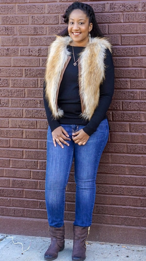 ThredUP Jeans and Faux Fur
