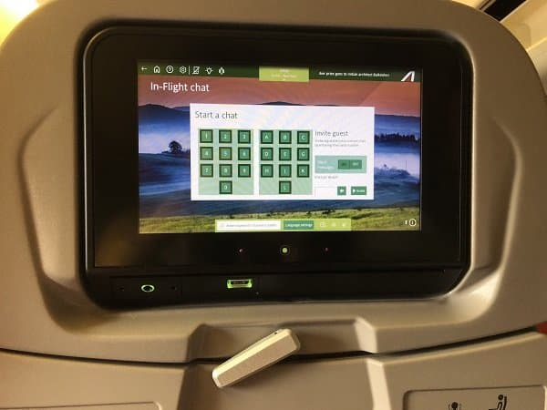 alitalia in-flight chat