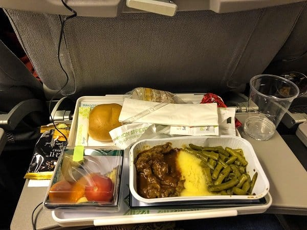 food from Alitalia