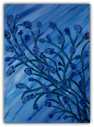 PAINTING ON CANVAS, ACRILIC, SIZE 50x70 CM (19,68x27,56 INCH), CATALOGUE NO. 13, STATUS: AVAILABLE