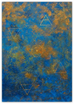 ALCHEMY, 2018, PAINTING ON CANVAS, ACRILIC, SIZE 50X70 CM (19,68 X27,56 INCH), CATALOGUE NO. 83, STATUS: AVAILABLE