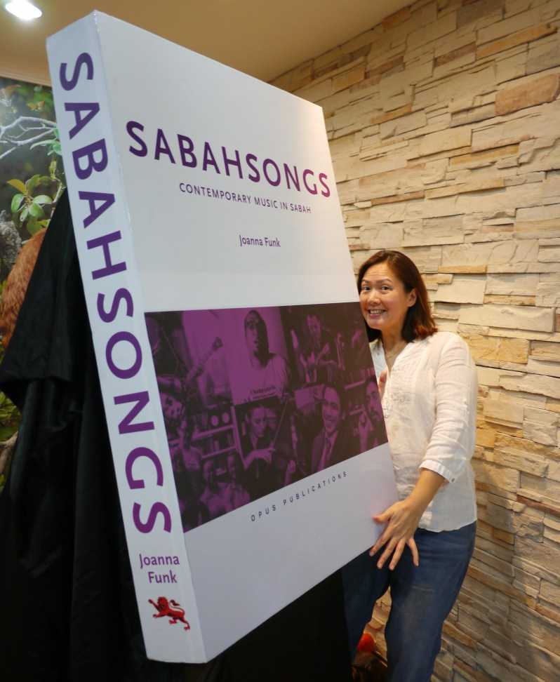 Book launch SabahSongs Contemporary Music in Sabah book written by Joanna Funk, Ready for the book launch!