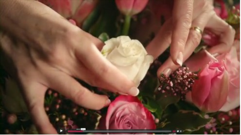 KM Smith hands flowers