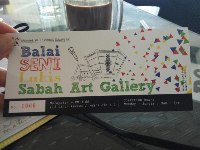 , Sabah holiday 2015. Inside the Sabah Art Gallery