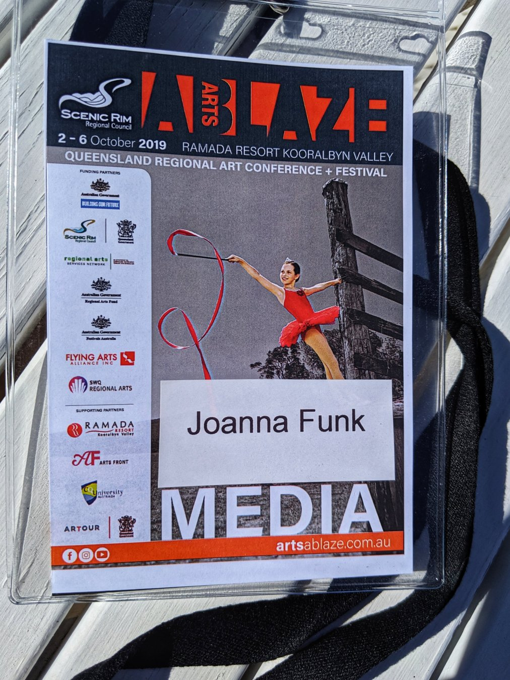 Got my Arts Ablaze media pass 👍