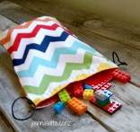 Rainbow Chevron Bag