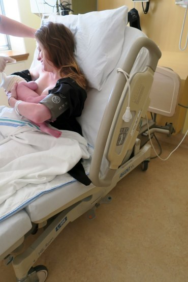 You're doing so well Joanna. Your nurse, Lise, said you were a great role model for other Mothers.