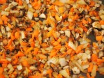 Combine onions, mushrooms and carrots into pan and cook for another three minutes to combine flavours but not overcook
