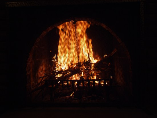 A fire to keep you warm on a snowy night