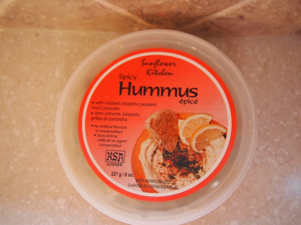 Sunflower Kitchen Spicy Hummus - Quality ingredients and super tasty when you don't feel like making your own. - Copyright Jo-Ann Blondin