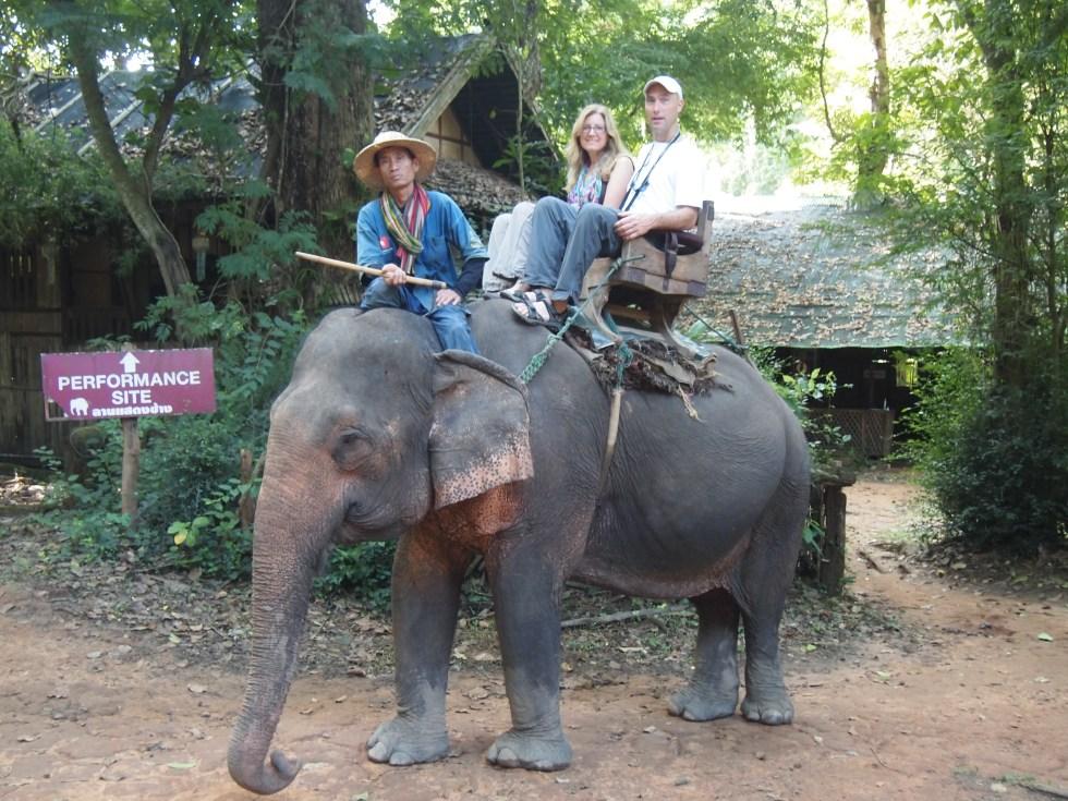Elephant rides in Thailand - Copyright Jo-Ann Blondin