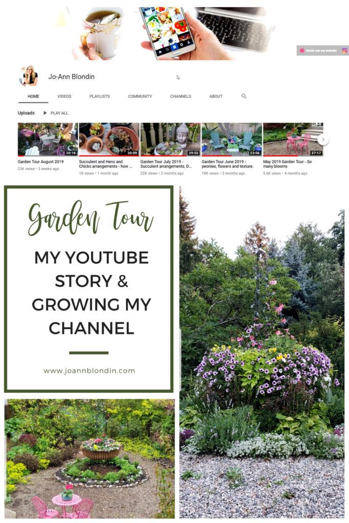 My garden tour YouTube story - Jo-Ann Blondin