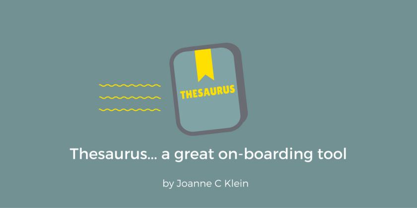 sharepoint thesaurus a great on boarding tool joanne c klein